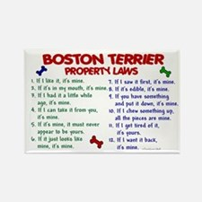 Boston Terrier Property Laws 2 Rectangle Magnet