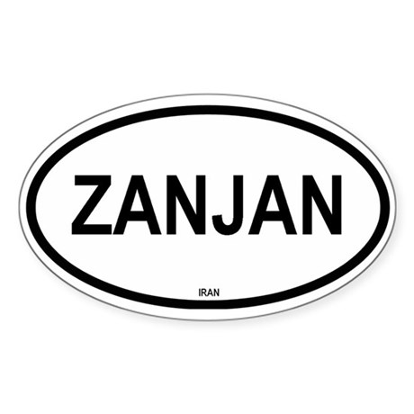 Zanjan Oval Sticker