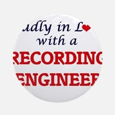 Madly in love with a Recording Engi Round Ornament
