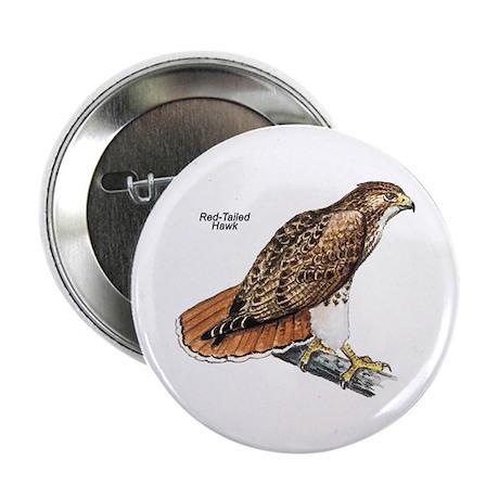 Red-Tailed Hawk Bird Button