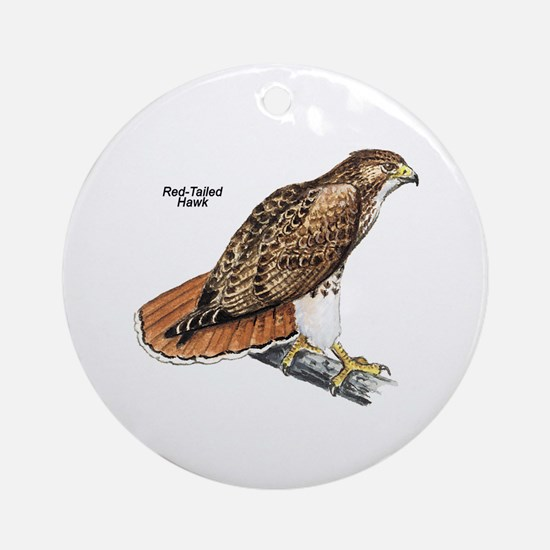 Red-Tailed Hawk Bird Keepsake (Round)