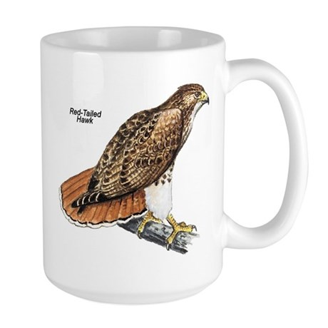 Red-Tailed Hawk Bird Large Mug