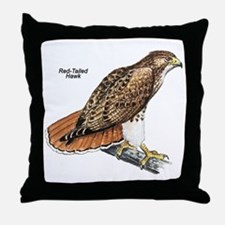 Red-Tailed Hawk Bird Throw Pillow
