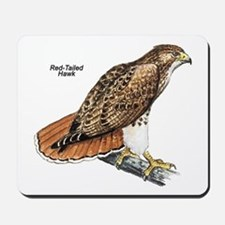 Red-Tailed Hawk Bird Mousepad