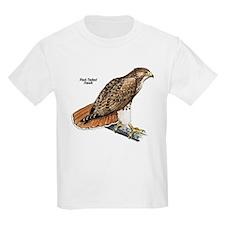 Red-Tailed Hawk Bird (Front) Kids T-Shirt
