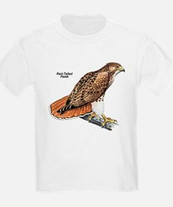 Red-Tailed Hawk Bird (Front) Kids T-Shirt