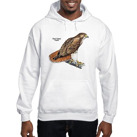 Red-Tailed Hawk Bird (Front) Hooded Sweatshirt