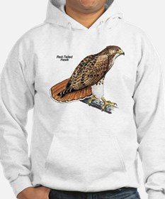 Red-Tailed Hawk Bird (Front) Hoodie