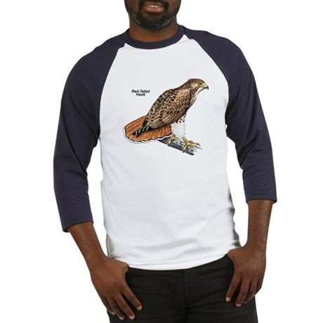 Red-Tailed Hawk Bird (Front) Baseball Jersey