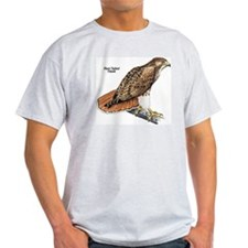 Red-Tailed Hawk Bird Ash Grey T-Shirt