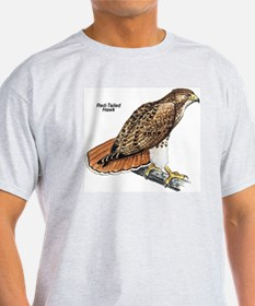 Red-Tailed Hawk Bird (Front) Ash Grey T-Shirt
