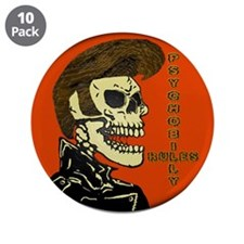 """Cool Psychobilly 3.5"""" Button (10 pack)"""