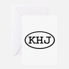 KHJ Oval Greeting Card