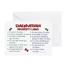 Dalmatian Property Laws 2 Greeting Cards (Pk of 20