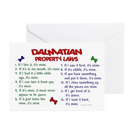 Dalmatian Property Laws 2 Greeting Cards (Pk of 10
