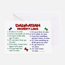 Dalmatian Property Laws 2 Greeting Card
