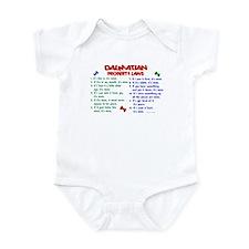 Dalmatian Property Laws 2 Infant Bodysuit