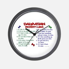 Dalmatian Property Laws 2 Wall Clock