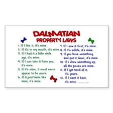 Dalmatian Property Laws 2 Rectangle Decal