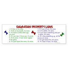 Dalmatian Property Laws 2 Bumper Car Sticker