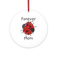 Forever Mom Ladybug Ornament (Round)