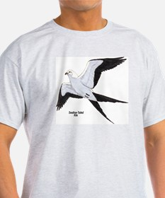 Swallow-Tailed Kite Bird (Front) Ash Grey T-Shirt