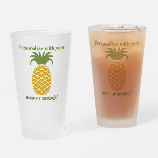 PERSONALIZED Pineapple Drinking Glass