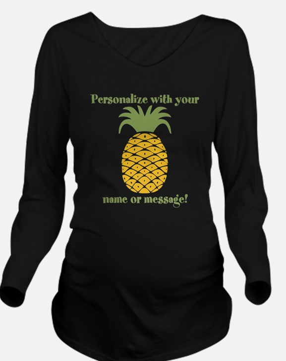 PERSONALIZED Pineapple Long Sleeve Maternity T-Shi