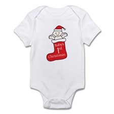 Babys First Christmas Stocking Body Suit