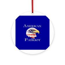 American Patriot Ornament (Round)