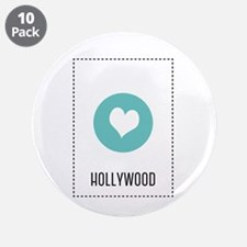 """I Love Hollywood 3.5"""" Button (10 pack)"""