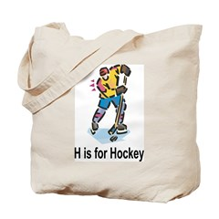 H is for Hockey Tote Bag