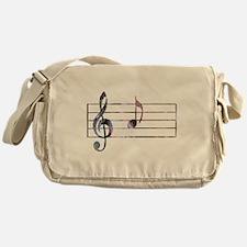 Musical Note Messenger Bag
