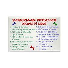 Doberman Pinscher Property Laws 2 Rectangle Magnet