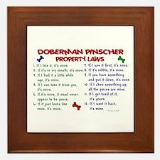 Doberman Pinscher Property Laws 2 Framed Tile