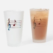 Musical Note Drinking Glass