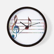 Musical Note Wall Clock