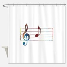 Musical Note Shower Curtain