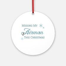 Airman Ornament (Round)