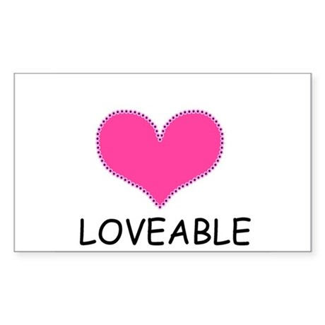LOVEABLE Rectangle Sticker