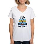 Ice Hockey Women's V-Neck T-Shirt