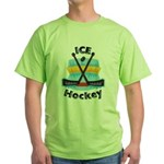 Ice Hockey Green T-Shirt