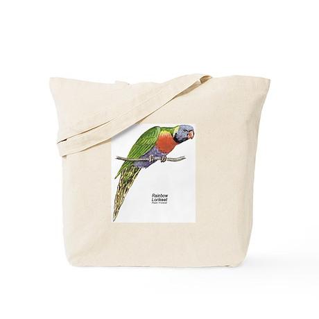 Rainbow Lorikeet Bird Tote Bag