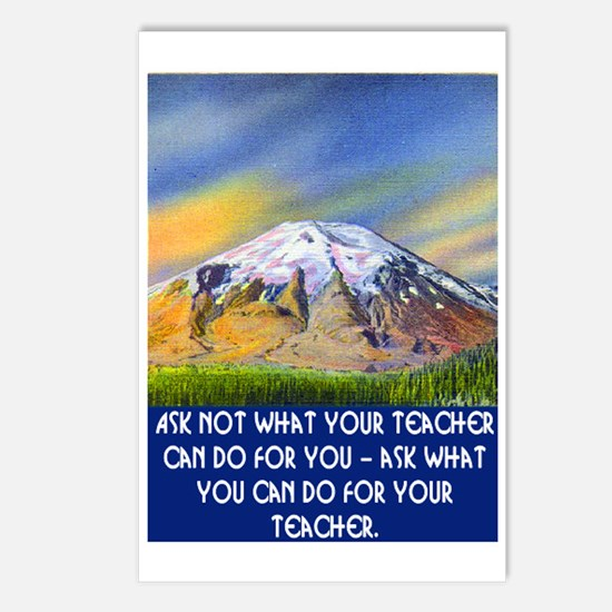 WHAT CAN YOU DO FOR YOUR TEACHER? Postcards (Packa