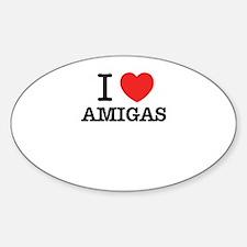 I Love AMIGAS Decal