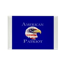 American Patriot Rectangle Magnet