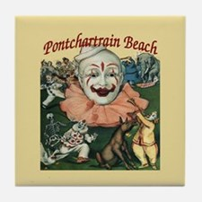 Pontchartrain Beach Poster Tile Coaster