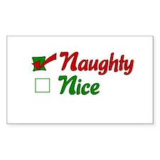 Naughty Christmas Rectangle Decal