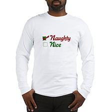 Naughty Christmas Long Sleeve T-Shirt
