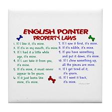 English Pointer Property Laws 2 Tile Coaster